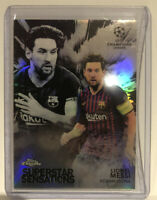 Lionel Messi 2018-19 Topps Chrome Uefa Champions Superstar Sensations Refractor