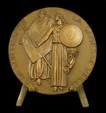 Médaille Compagnie d'assurance L'Abeille par Delamarre 1950 insurance bee Medal
