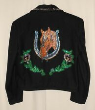 Women's Western Bolero Jacket Fancy Sequins Gordon & James Rodeo Cowgirl Medium