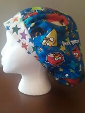 Angry Birds Women's Bouffant Surgical Scrub Hat/Cap Handmade