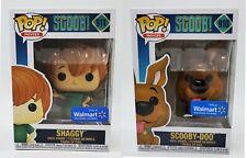 Funko Pop! Scoob! Shaggy & Scooby-Doo 910 + 911 Walmart Exclusive Lot BRAND NEW