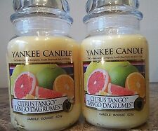 Yankee Candle     Citrus Tango   22 oz. Lot of 2  NEW Candles   Free Shipping