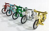 Brick Loot Minifigure Bicycles - Set of 5 Chrome Bikes FITS LEGO & MAJOR BRANDS