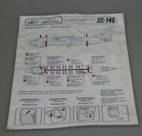 Odessa  Ukraine  airlines  safety card  AN -140 instructions antonov