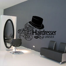 Wall Decal Hair Salon Beauty Unisex Lips Hat Curls Stylist Hairstyle Girl M950