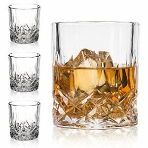 Crystal Whiskey Glasses-Premium 11 OZ Scotch Glasses Set of 4 /Old Fashioned
