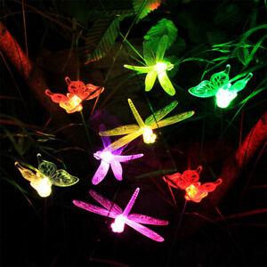 8 x LED SOLAR Farbwechsler Schmetterling Libelle Garten Außen Leuchte Erd-Spieß