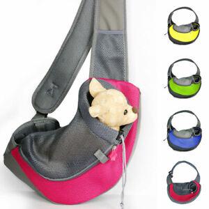 Pet Dog Carrier Outdoor Travel Handbag Pouch Mesh Oxford Single Shoulder Bag NEW