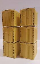 AUSTRAINS 6x LCL containers NEW HO 1/87 Pack 9201 suits Auscision, SDS MODELS