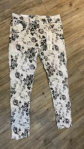 Jewelly Baggy Boyfriend Damen Jeans Schwarz&Weiß Bunt mit Blumen Muster NEU!!!