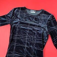 New listing Vintage 90's In San Franscico Black Velvet Glitter 3/4 Sleeve Blouse