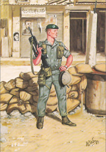 1982 Beyrouth Beirut French Foreign Régiment Parachutists Painting Bryan Fosten