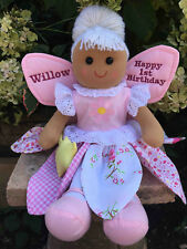 PERSONALISED RAG DOLL FAIRY ANGEL 1ST 2ND 3RD 4TH ANY AGE BIRTHDAY GIFT