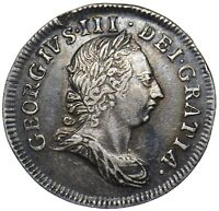 1772 MAUNDY FOURPENCE 4d (2 OVER 0) - GEORGE III BRITISH SILVER COIN - V NICE