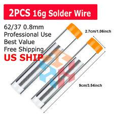 2x 60/40 Quality Tin Lead Rosin Core Flux Soldering Solder Wire Diameter