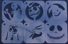 # 1 Nightmare Before Christmas Set of 6pcs Stencil Jack Skellington Sally ZERO