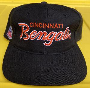 NWOT Vintage Cincinnati Bengals Sports Specialties DL Script Snapback Hat Cap