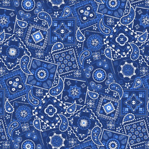 Waverly Inspiration Paisley Bandana on Blue Sewing Quilting Cotton Fabric FQ