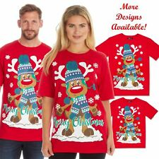 Family Matching Christmas Xmas T-shirts Mens Womens Kids Infant Plus Size 3Y-5XL