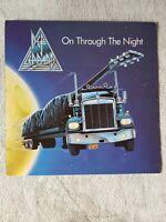 DEF LEPPARD ON THROUGH THE NIGHT  1980 vertigo vinyl lp album original