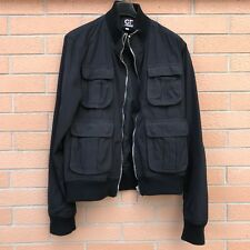Giubbotto giacca uomo Gianfranco Ferre Bomber jacket coat men's Black Coat L