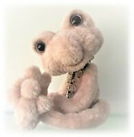 """11"""" Faux Fur Pretty Pink Frog OOAK jointed Artist Bear one off Boulter Bears"""