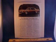 1972 Oldsmobile Ninety Eight 98 Olds full-color ad w/backer board--EZ to frame