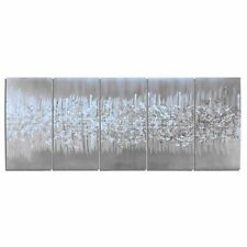 Urban Metal Art Abstract Wall Sculpture Modern Artwork Contemporary Silver Decor