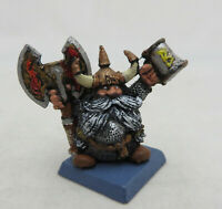 Warhammer Dwarfs Warriors Bugmann ranger no banner pole metal oop dispossessed