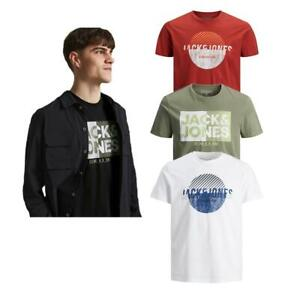 Jack And Jones Men's T-shirts Casual Cotton Soft Comfort Short Sleeve Crew Neck