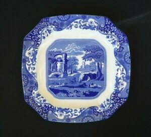 Beautiful Copeland Spode Italian Blue Eight Sided Serving Platter