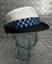 Genuine British Military Issue Tricorn Dress Hat with Blue Dice Band 61cm (7½)