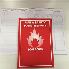 FIRE LOG BOOK A4 BRAND NEW COMPLIANT LANDLORD SECURITY SAFETY