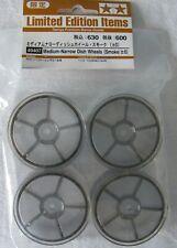 Tamiya 49407 Medium Narrow Dish Wheels Smoke NIP
