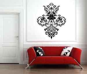 Baroque style livingroom wall decal - vinyl wall art