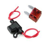 New inline Mini Blade fuse holder and x10 mini fuses, car van motorbike 10A Fuse