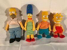 The Simpsons Soll Lot 1990 Plush Bart Homer Lisa Marge Burger King Vintage