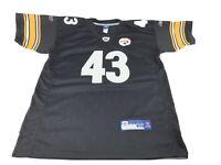 REEBOK NFL Men's Black/Yellow #43 POLAMALU Jersey PITTSBURGH STEELERS Size 52