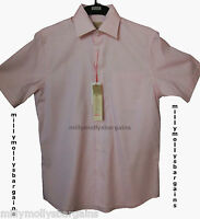 New Mens Marks & Spencer Red White Cotton Shirt Size Large Medium Small RRP £35