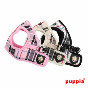 Puppia - Dog Puppy Harness Vest - Junior - Pink, Black, Beige - XS, S, M, L, XL
