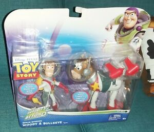TOY STORY WOODY & BULLSEYE SPACE MISSION ACTION FIGURES COLLECTIBLE