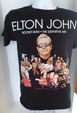 Men's Elton John Short Sleeved Tshirt size L 100% Cotton Graphic Tee Black