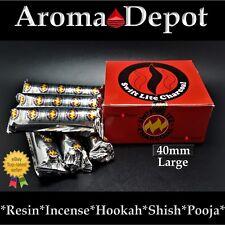 LARGE 40mm Charcoal Tablets Incense Hookah 1 2 3 4 5 6 Shisha Pooja 100 Piece