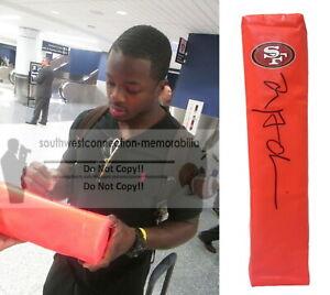 Marquise Goodwin S.F. 49ers Signed Football TD Pylon Proof Photo Autograph COA