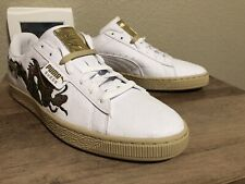 Puma Suede Court Classic Dragon Patch Embroidered Shoes Olive Men Size 10.5
