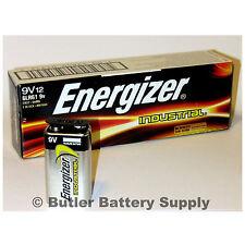 12 Energizer Industrial 9 Volt (9V) Alkaline Batteries (EN22, 6LF22, 6AM6)