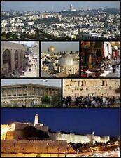 """Various Mini-Pictures of Jerusalem, Israel"" (On 1 Postcard) (C22) {Postcard}"