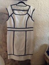 M&S Autograph Corset Dress White/Black Trim Size 16 Never Worn!