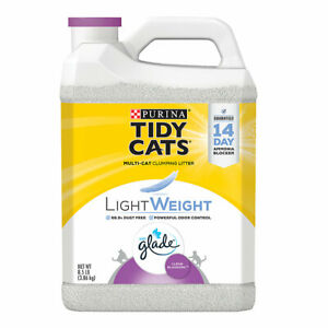 Tidy Cats Light Weight Clumping Multi Cat Litter Glade Clean Blossoms, 8.5 lb ✔️
