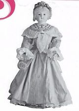 """28""""ANTIQUE STANHOPE/CHINA HEAD/PARIAN  FRENCH FASHION LADY DOLL DRESS PATTERN"""